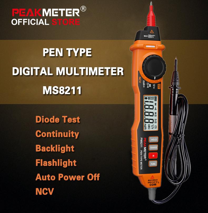 ویژگی های مولتی متر قلمی PeakMeter PM8211