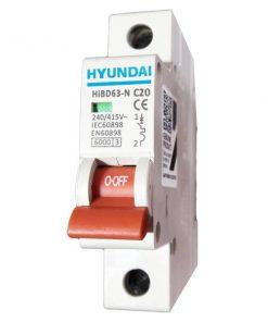 فیوز مینیاتوری تک فاز 20 آمپر هیوندای مدل C20